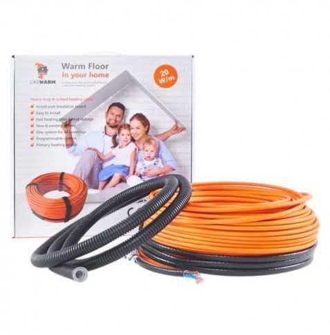 Vykur. kábel – LIKEWARM 20W/m, (plocha 14 m2)