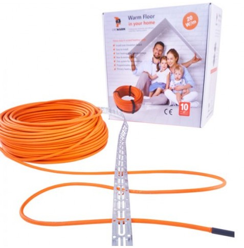 Vykur.kábel–LIKEWARM 20W/m(plocha26 m2 )
