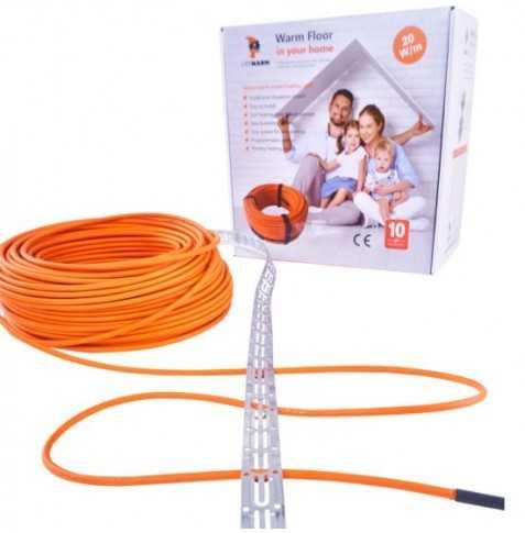 Vykur.kábel–LIKEWARM 20W/m(plocha 28 m2 )