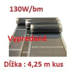 D510 Vykurovacia fólia :š. 100 cm , 130W/b.m , 100 W m2