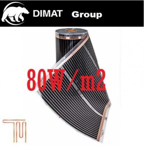 D705 Vykurovacia fólia :š. 50 cm , 40 W/b.m , 80 W m2
