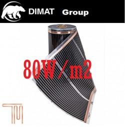 D710 Vykurovacia fólia :š. 100 cm , 80 W/b.m , 80 W m2