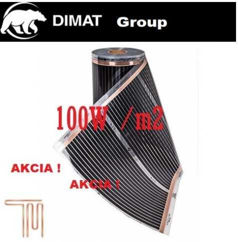 D605 Vykurovacia fólia : š.50 cm , 50 W/b.m , 100 W m2