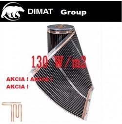 D505 Vykurovacia fólia : š.50 cm , 65 W/b.m , 130 W m2